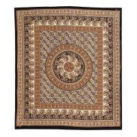 Přehoz Paisley Mandala hnědý 220 x 210 cm