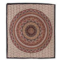 Přehoz Star Mandala červený 220 x 210 cm
