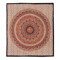 Přehoz Star Mandala oranžový 220 x 210 cm