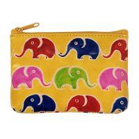 Kožená peněženka na drobné Sloni žlutá