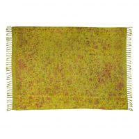 Šátek sarong, pareo Kytky zelený