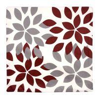 Povlak na polštář Květy vínové 45 x 45 cm sada 2 ks