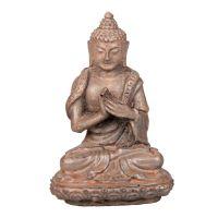 Soška Buddha resin 9 cm hnědý II