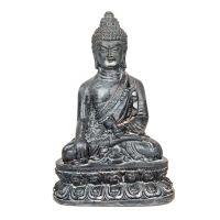 Soška Buddha resin 9 cm šedý I