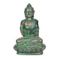 Soška Buddha resin 9 cm zelený I