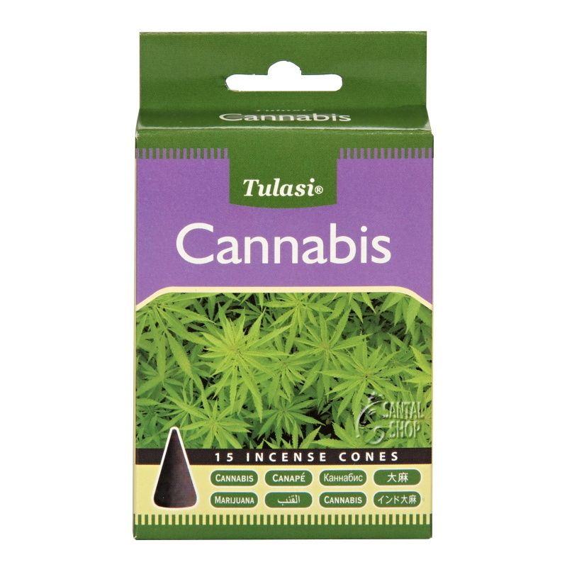 Tulasi Cannabis indické vonné františky 15 ks