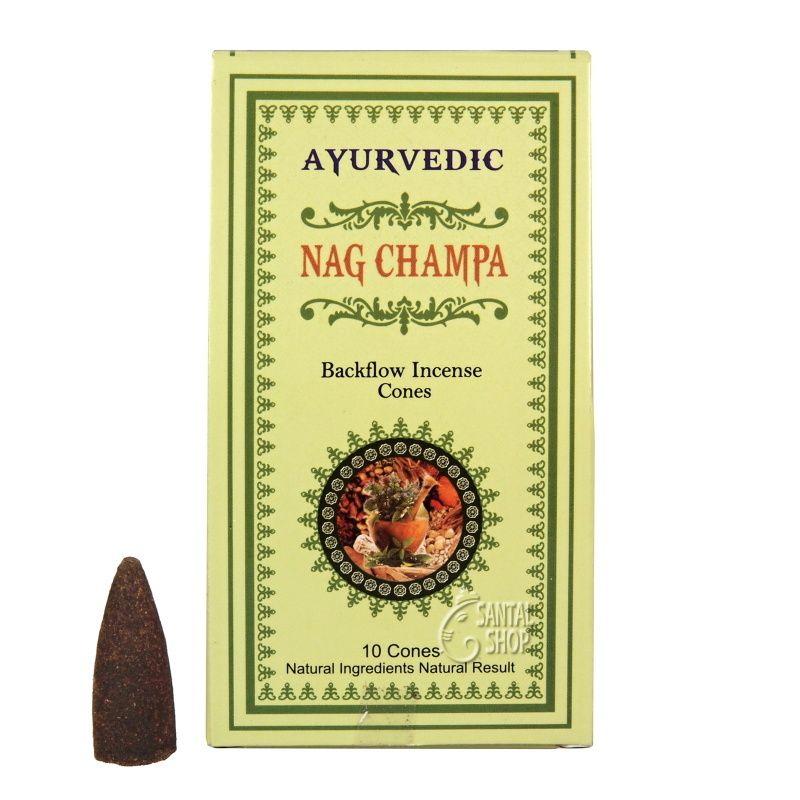 Ayurvedic Nag Champa indické vonné františky tekoucí dým 10 ks