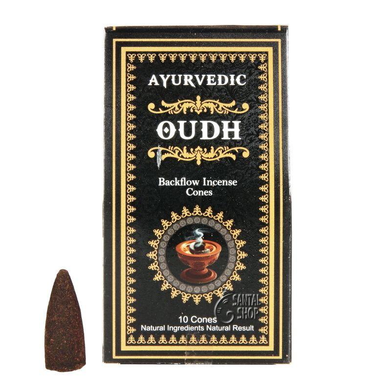 Ayurvedic Oudh indické vonné františky tekoucí dým 10 ks