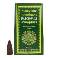 Vonné františky Ayurvedic Patchouli tekoucí dým