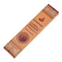 Ayurvedic Saffron indické vonné tyčinky 15 ks