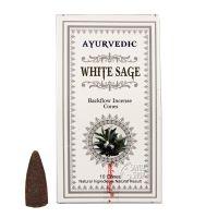 Vonné františky Ayurvedic White Sage tekoucí dým