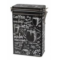 Dóza na kávu Macchiato 500 g s klipem plechová