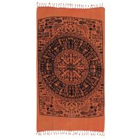 Indický přehoz na křeslo Etno oranžový 175 x 95 cm