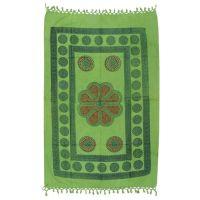 Indický přehoz na křeslo Květ zelený 175 x 95 cm