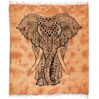 Přehoz Elefant oranžový 235 x 210 cm