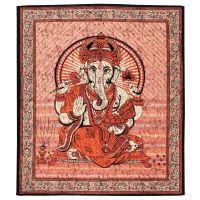 Přehoz Ganesh červený 220 x 210 cm