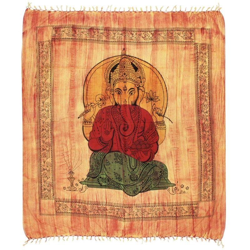 Indický přehoz na postel Ganesh žíhaný 235 x 210 cm