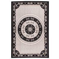 Indický přehoz na postel Ještěrky etno černý 205 x 140 cm