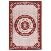 Indický přehoz na postel Ještěrky etno červený 205 x 140 cm