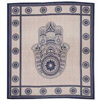 Přehoz Hamsa modrý 235 x 210 cm