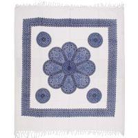 Přehoz Květ modro-bílý 235 x 210 cm