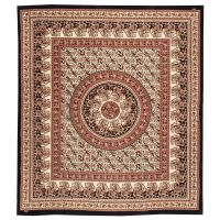 Přehoz Paisley Mandala červený 220 x 210 cm