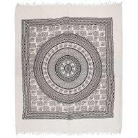 Přehoz Sloni Agra černo-bílý 235 x 210 cm