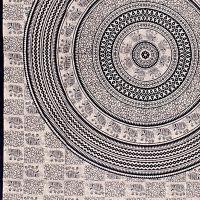 Indický přehoz na postel Sloni Agra modrý 205 x 140 cm