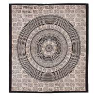 Přehoz Sloni mandala černý 240 x 210 cm