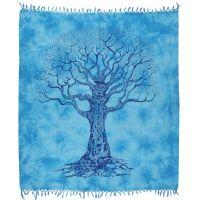 Přehoz Strom života azurový 235 x 210 cm