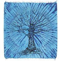 Přehoz Strom života modrý 235 x 210 cm