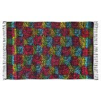 Šátek sarong Kolibřík černo-duhový