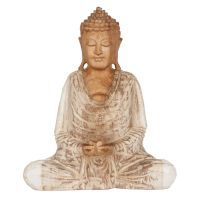 Soška Buddha dřevo 20 cm bar Dhyan