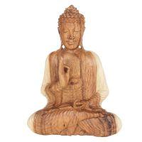 Soška Buddha dřevo 26 cm sv Vitarka