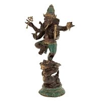 Soška kovová Ganesh 28 cm