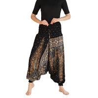 Kalhoty turecké harémové Aladin černé