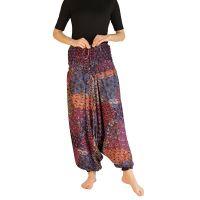 Kalhoty turecké harémové Aladin fialové