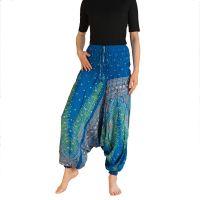 Kalhoty Aladin modré tyrkysové