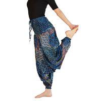 Kalhoty turecké harémové Aladin modré