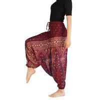 Kalhoty turecké harémové Aladin vínové