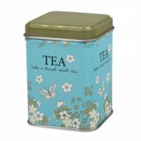 Dóza na čaj Blooming modrá 50 g plechová