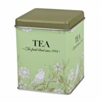 Dóza na čaj Blooming zelená 100 g plechová