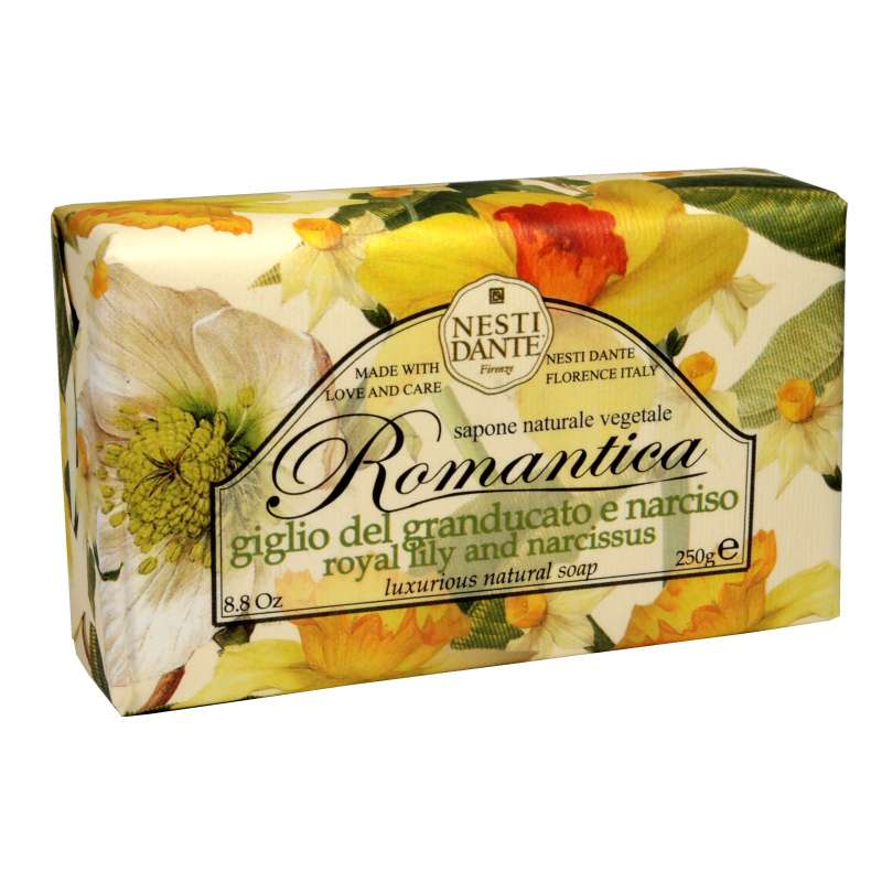 Nesti Dante Romantica mýdlo Lilie a narcis 250 g