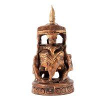 Soška Slon dřevo 10 cm s baldachýnem Indie