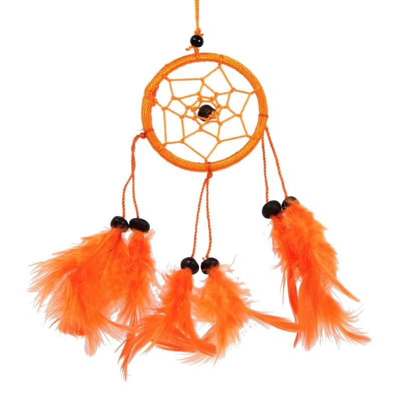 Lapač snů 06 cm I oranžový Indonesie