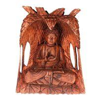 Soška Buddha dřevo 31 cm