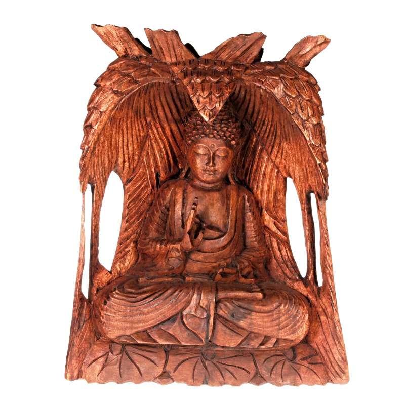 Soška Buddha dřevo 31 cm Indonesie