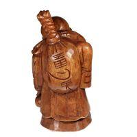Soška Hotei smějící se buddha dřevo 48 cm Thajsko