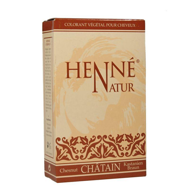 Henna Henné natur Chatain barva na vlasy Hennedrog