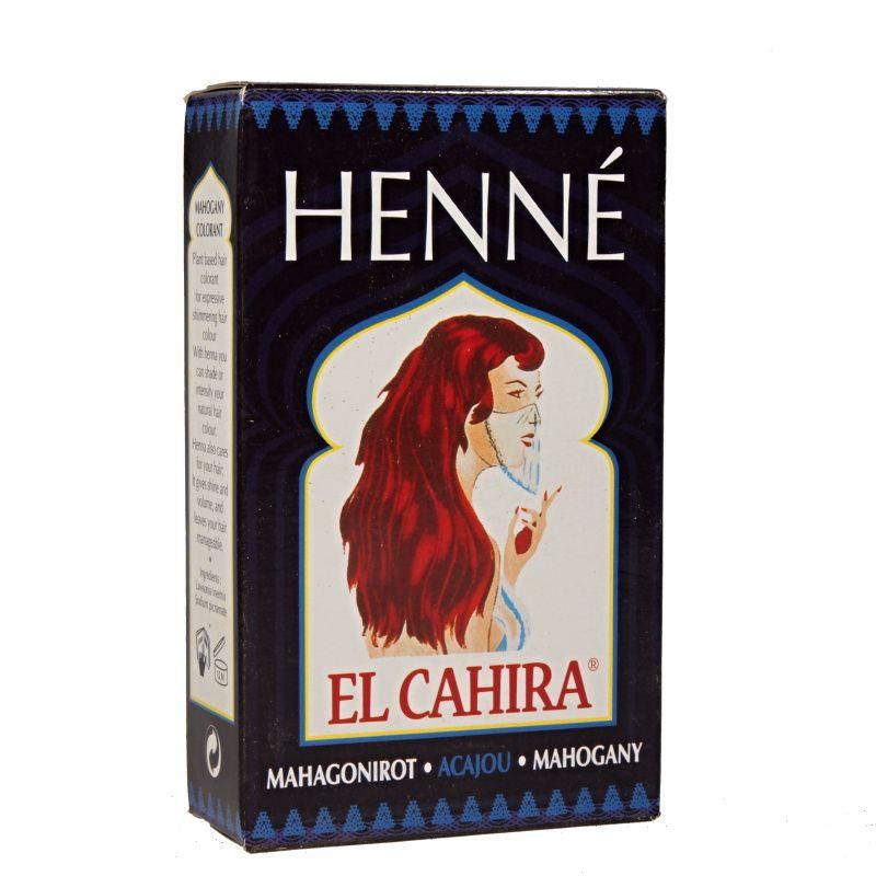 Henna Henné El Cahira Mahogany barva na vlasy Hennedrog